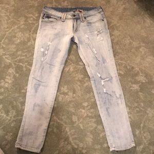 LF Ripped Straight Leg Denim Jeans Size 27